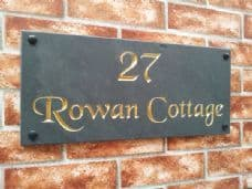 Slate house name sign / address plate – 450mm x 200mm; 17.7 inches x 7.9 inches